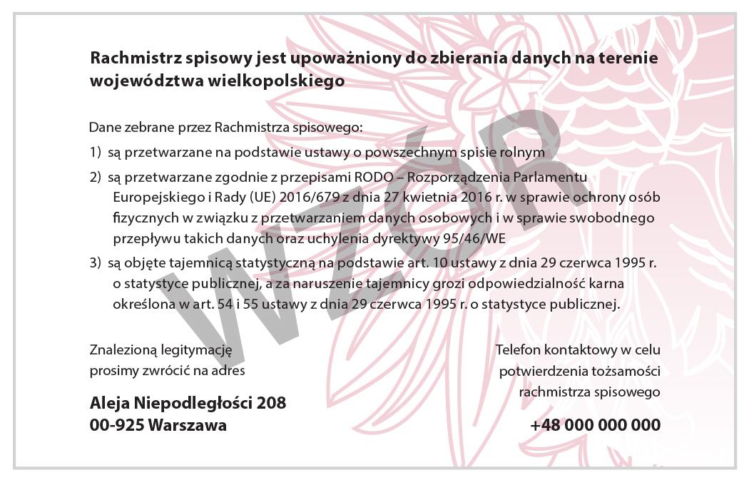 Ilustracja. Rachmistrz spisowy legitymuje się oficjalnym identyfikatorem wydanym przez Wojewódzkie Biuro Spisowe.