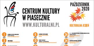 Plakat Kulturalny październik 2020 Centrum Kultury w Piasecznie