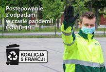 Ilustracja. Postępowanie z odpadami w czasie pandemii COVID-19