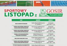 Sportowy listopad 2020 r. z GOSiR Piaseczno