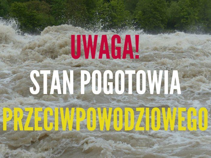 Ilustracja. Stan pogotowia przeciwpowodziowego na terenie gminy Piaseczno