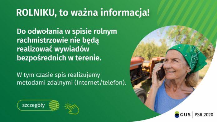 Ilustracja. Ważna informacja dla rolników – zawieszenie wywiadów bezpośrednich w Powszechnym Spisie Rolnym