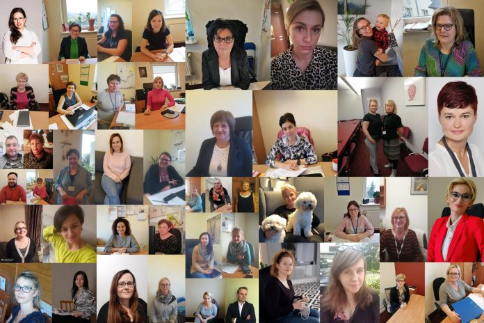 Kolaż zdjęć Pracowników Socjalnych w gminie Piaseczno