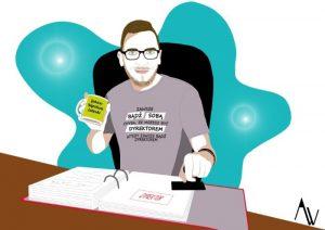 Pracownicy biblioteki - ilustracja wystawy