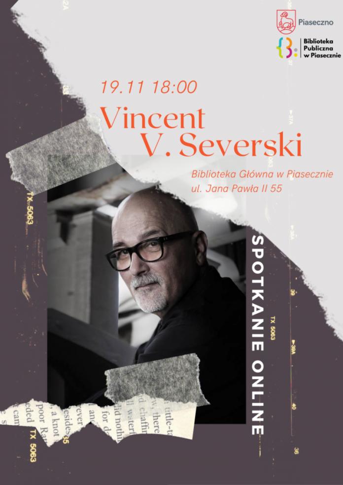Plakat - Spotkanie autorskie online z Vincentem Severskim