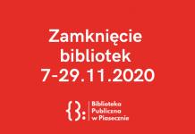 Zamknięcie bibliotek do 29 listopada