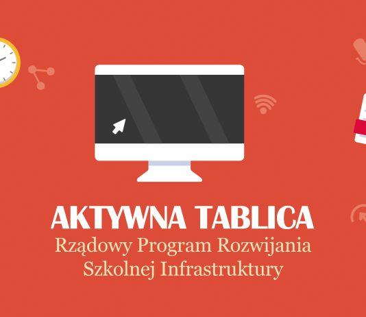 Ilustracja. Aktywna tablica w Zespole Szkolno-Przedszkolnym w Piasecznie