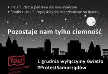 Ilustracja. Protest Polski Samorządowej dotyczący proponowanych zmian w budżetach lokalnych społeczności