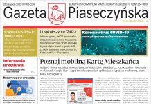 Widok na pierwszą stronę Gazety Piaseczyńskiej nr 6/2020