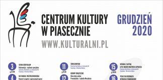 Plakat z listą wydarzeń Kulturalny grudzień 2020