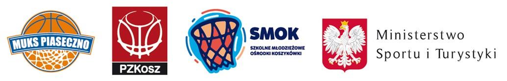 Logotypy. Szkolny Młodzieżowy Ośrodek Koszykówki SMOK w Szkołach Podstawowych w Piasecznie