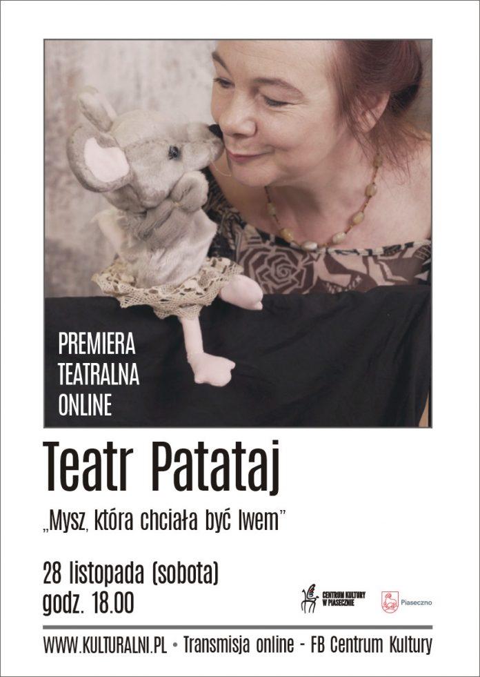 Plakat wydarzenia Mysz, która chciała być lwem - spektakl online Teatru Patataj