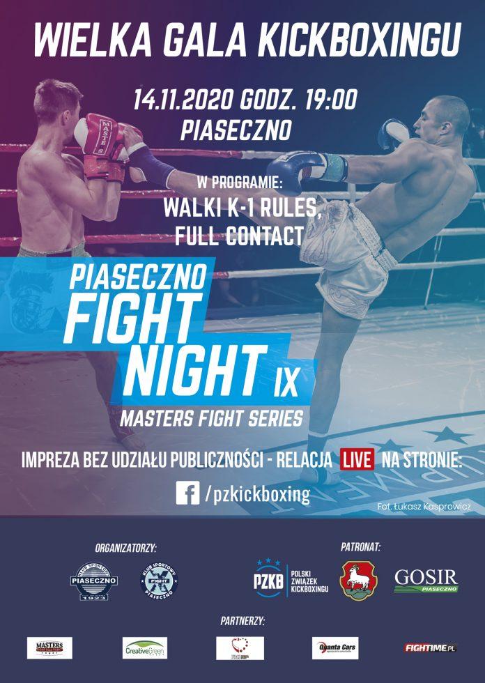 Plakat wydarzenia Piaseczno Fight Night IX