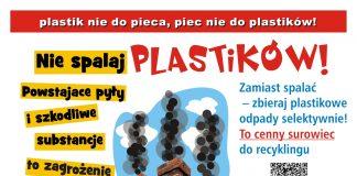 Banner akcji Plastik nie do pieca - piec nie do plastiku / w trosce o czyste powietrze