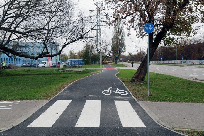 Ścieżka rowerowa przy ul. Energetycznej w Piasecznie
