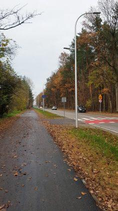 Ścieżka rowerowa przy ul. Głównej w Żabieńcu