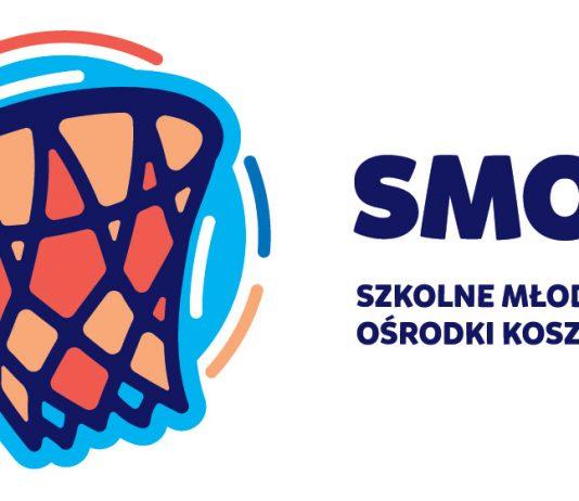 Logo. Szkolny Młodzieżowy Ośrodek Koszykówki SMOK w Piasecznie
