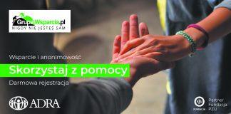Ilustracja. Darmowe grupy wsparcia online dla mieszkańców woj.mazowieckiego - GrupaWsparcia.pl i ADRA Polska