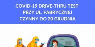 Ilustracja. Covid drive thru w Piasecznie czynny wyłącznie do 20 grudnia 2020r.