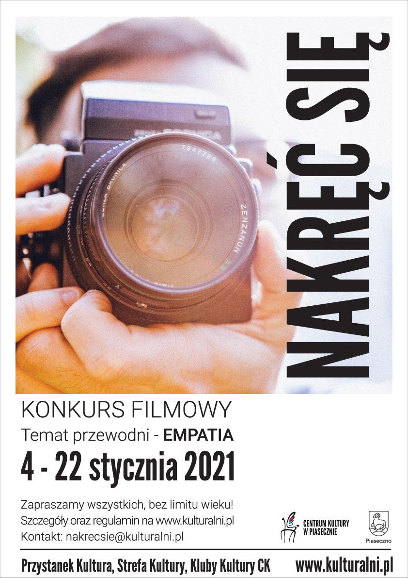 Plakat wydarzenia NAKRĘĆ SIĘ konkurs filmowy - hasło EMPATIA