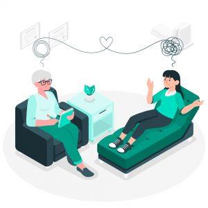 Psycholog psychiatra - grafika stories / Freepik.com