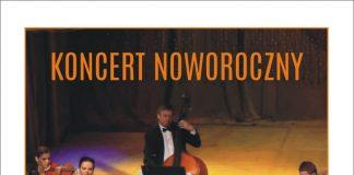Plakat wydarzenia Trio Con Passione wraz z sopranistką Justyną Reczeniedi - koncert noworoczny w Piasecznie