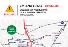Zmiany w transporcie od 25-01-2021 dot. L39