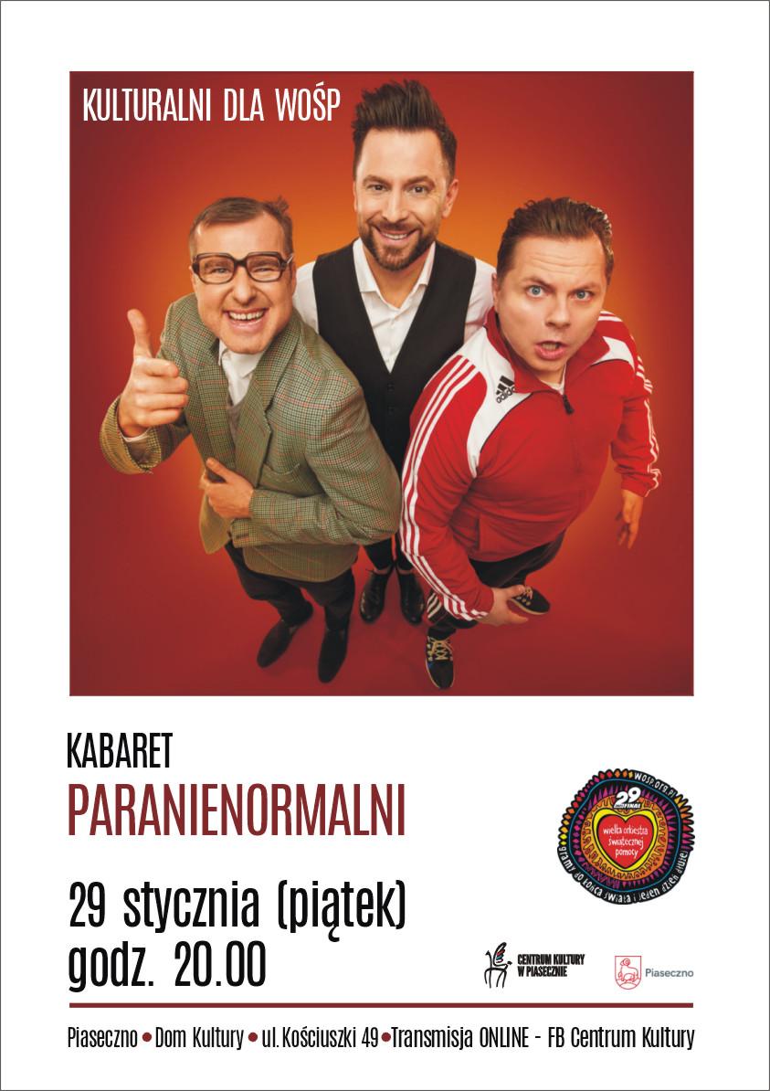 Plakat wydarzenia Kabaret Paranienormali - Kulturalni dla WOŚP