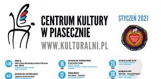 Plakat zbiorczy wydarzeń organizowanych przez Centrum Kultury w Piasecznie