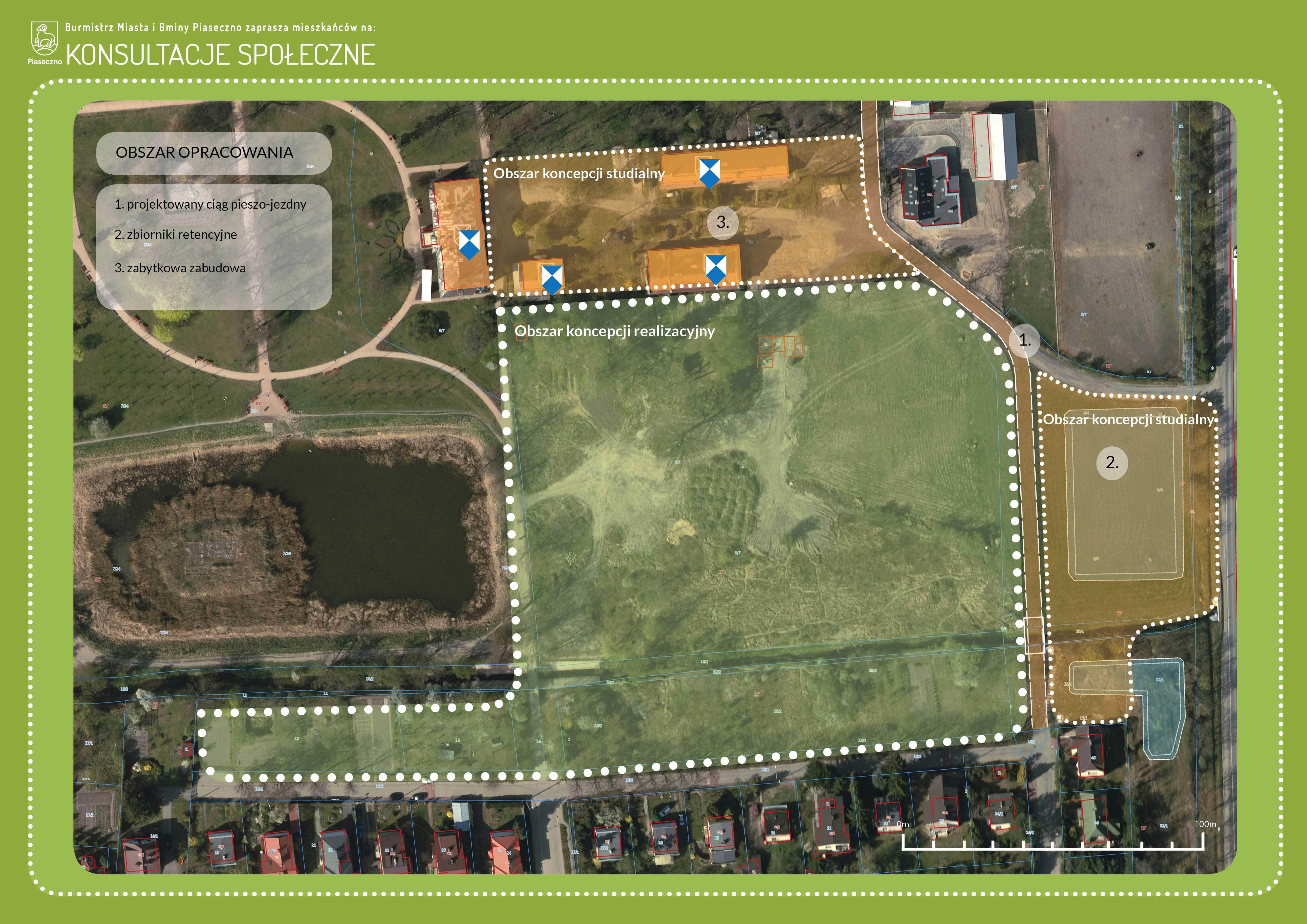 Powiększamy Park Miejski - Burmistrz Miasta I Gminy Piaseczno zaprasza mieszkańców na konsultacje społeczne