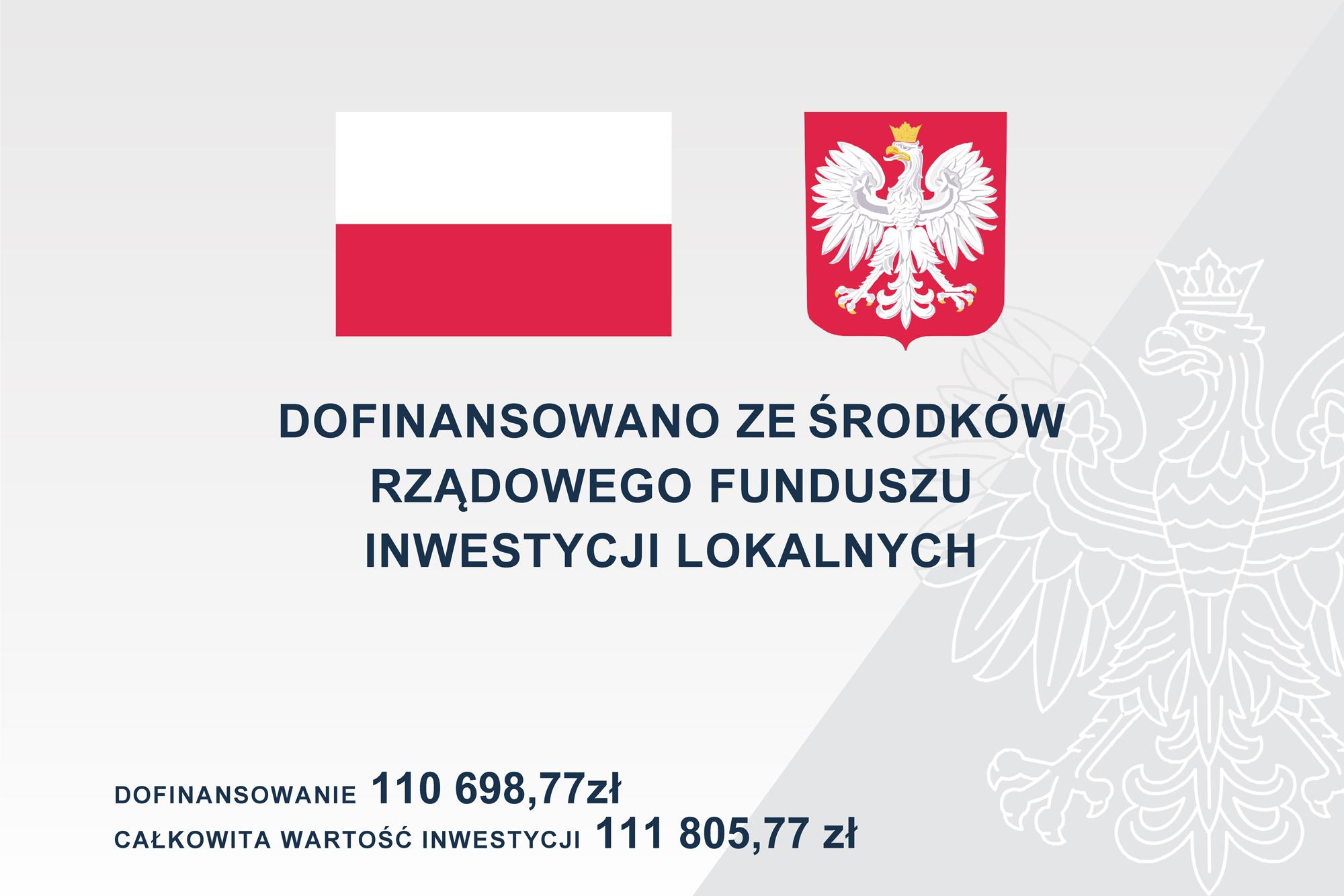 W ramach Rządowego Funduszu Inwestycji Lokalnych Gmina Piaseczno otrzymała dofinansowanie