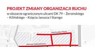 Proponowana zmiana organizacji ruchu w okolicy ul. Kauna, Orzeszkowej