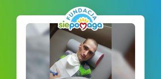Ulotka. Bartłomiej Śliwiński z Piaseczna potrzebuje wsparcia na rehabilitację i opiekę medyczną