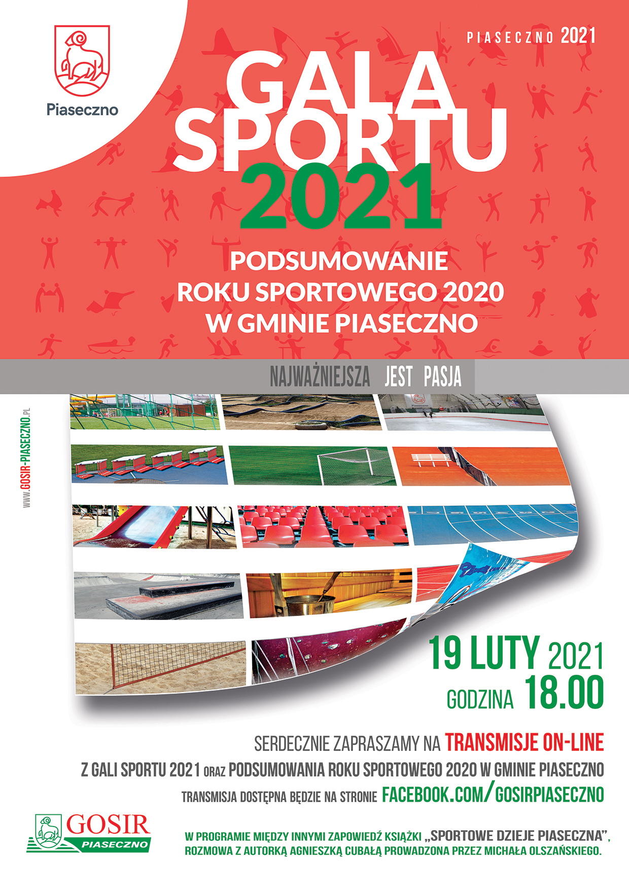 Plakat wydarzenia Gala Sportu 2021 Piaseczno