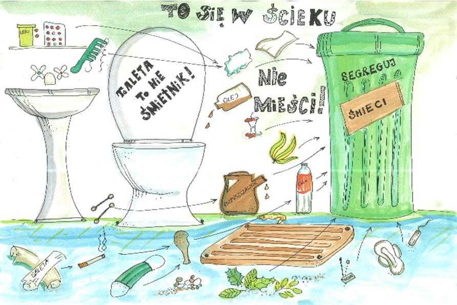 Toaleta to nie śmietnik - akcja PWiK Piaseczno