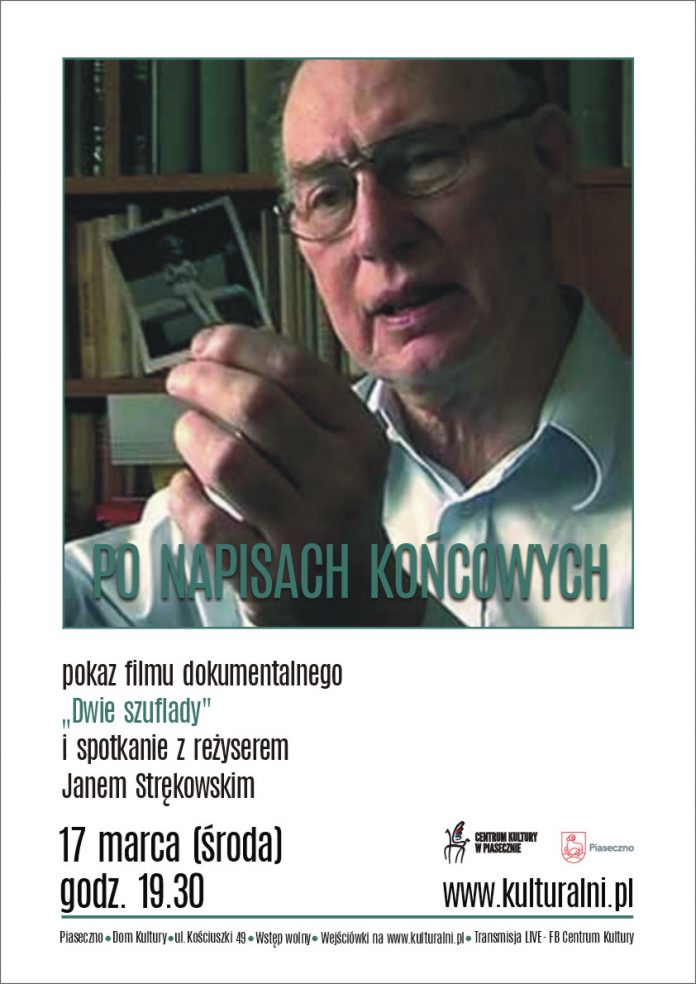 """Plakat wydarzenia PO NAPISACH KOŃCOWYCH - pokaz filmu """"Dwie szuflady"""""""