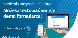 Ilustracja. Demo formularza spisowego Narodowego Spisu Powszechnego 2021
