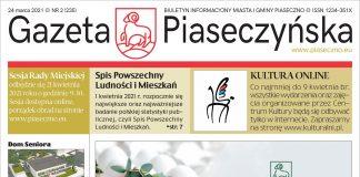 Ilustracja. Gazeta Piaseczyńska nr 2/2021. Pierwsza strona gazety.