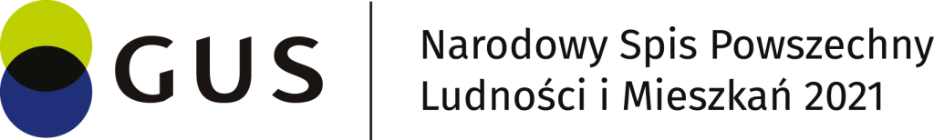 Logo NSP Narodowy Spis Powszechny Ludności i Mieszkań 2021