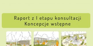 Ilustracja. Park miejski - wstępne koncepcje dla nowej części parku