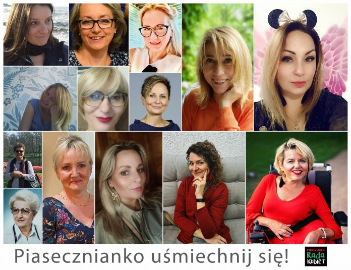 Piasecznianko, uśmiechnij się! Kolaż zdjęć kobiet, które są w Piaseczyńskiej Radzie Kobiet