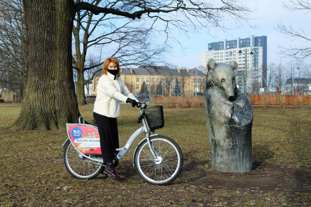 Ilustracja. Rowerem po Piasecznie. Rowery miejskie podobnie jak wilkoniowy Miś - wybudziły się już z zimowego snu.