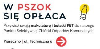 Ilustracja. Skup makulatury i butelek PET w PSZOK Piaseczno