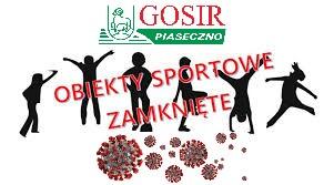 ZAMKNIĘCIE OBIEKTÓW- Nowe zasady profilaktyki przeciw COVID-19 od 20.03.2021r.