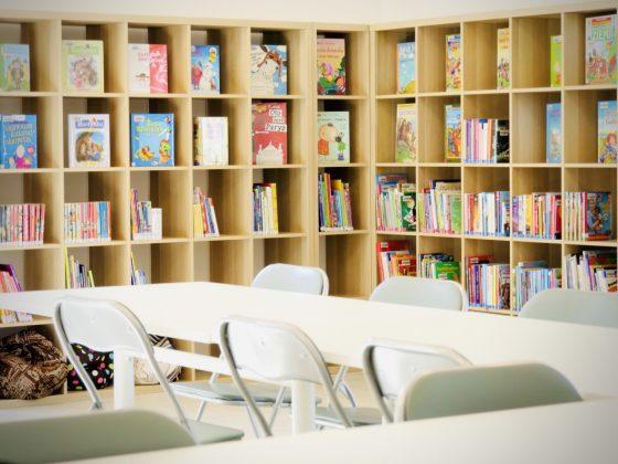 zdjęcie od środka Punktu bibliotecznego w Kamionce-foto: Tomasz Korczak