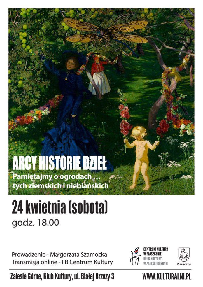 ARCY-HISTORIE-o ogrodach - plakat