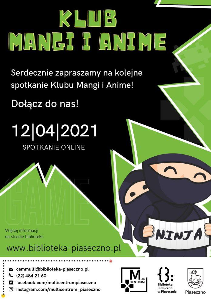 Klub Mangi i Anime - spotkanie 12.04.2021