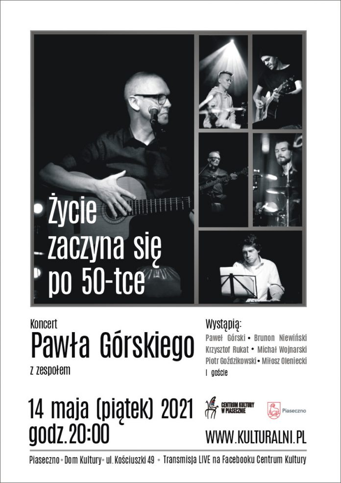 Recital Pawła Górskiego - plakat