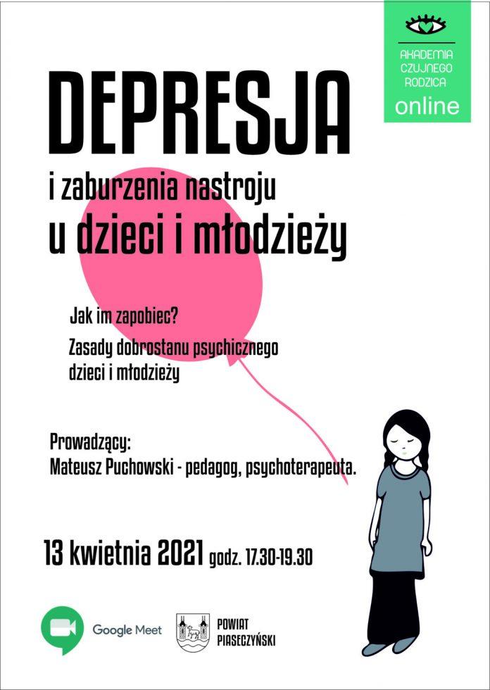Spotkanie online poświęcone depresji dzieci.