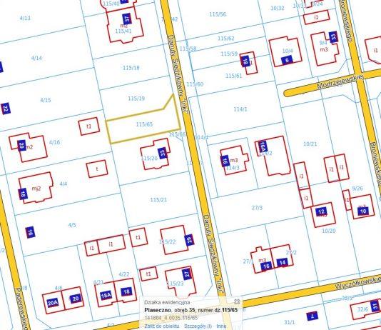 Ilustracja. Przetarg pisemny ograniczony na sprzedaż nieruchomości gruntowej niezabudowanej oznaczonej jako działki ewid. nr 115/65 o powierzchni 393 m2 i nr 115/66 o powierzchni 18 m2, położonej w obr. 35 m. Piaseczno przy ul. Danuty Siedzikówny Inki